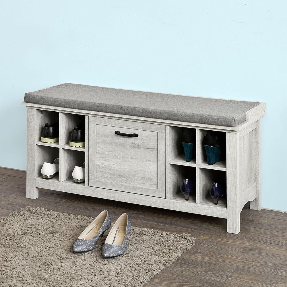 Awesome Hallway Storage Bench Shoe Cabinet Shoe Rack With 8 Theyellowbook Wood Chair Design Ideas Theyellowbookinfo