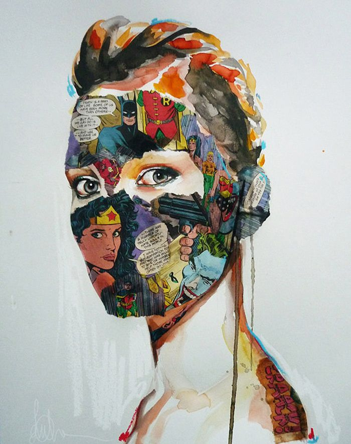 modern day pop chevrier fashion illustrations mixed media and pop