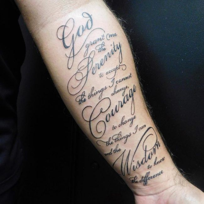 Tattoo Quotes Wisdom: Serenity Prayer Tattoo1
