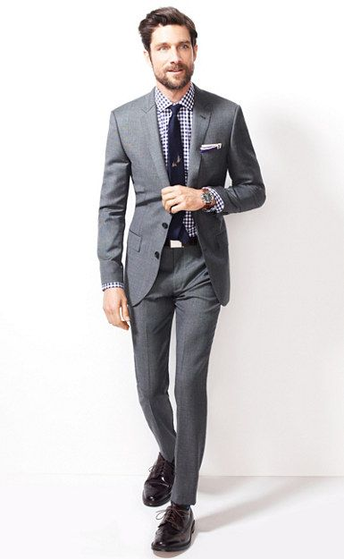 dcc7c4003f8348 Ludlow suit jacket with double vent in Italian worsted wool | men's ...