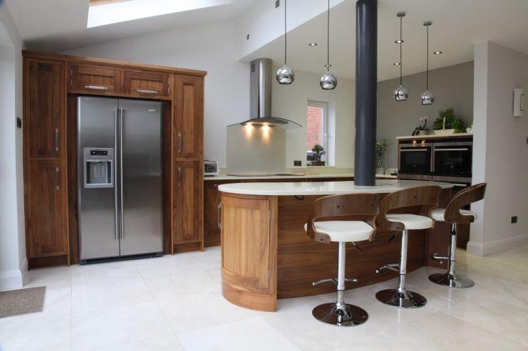Feature Island Incorporating Structural Steel Column Kitchen