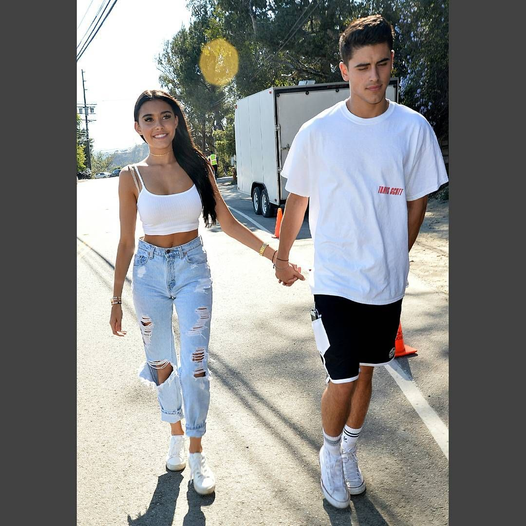 Holds Hands With A Mystery Man At Just Jareds Party, Los Angeles, CA #MadisonBeer