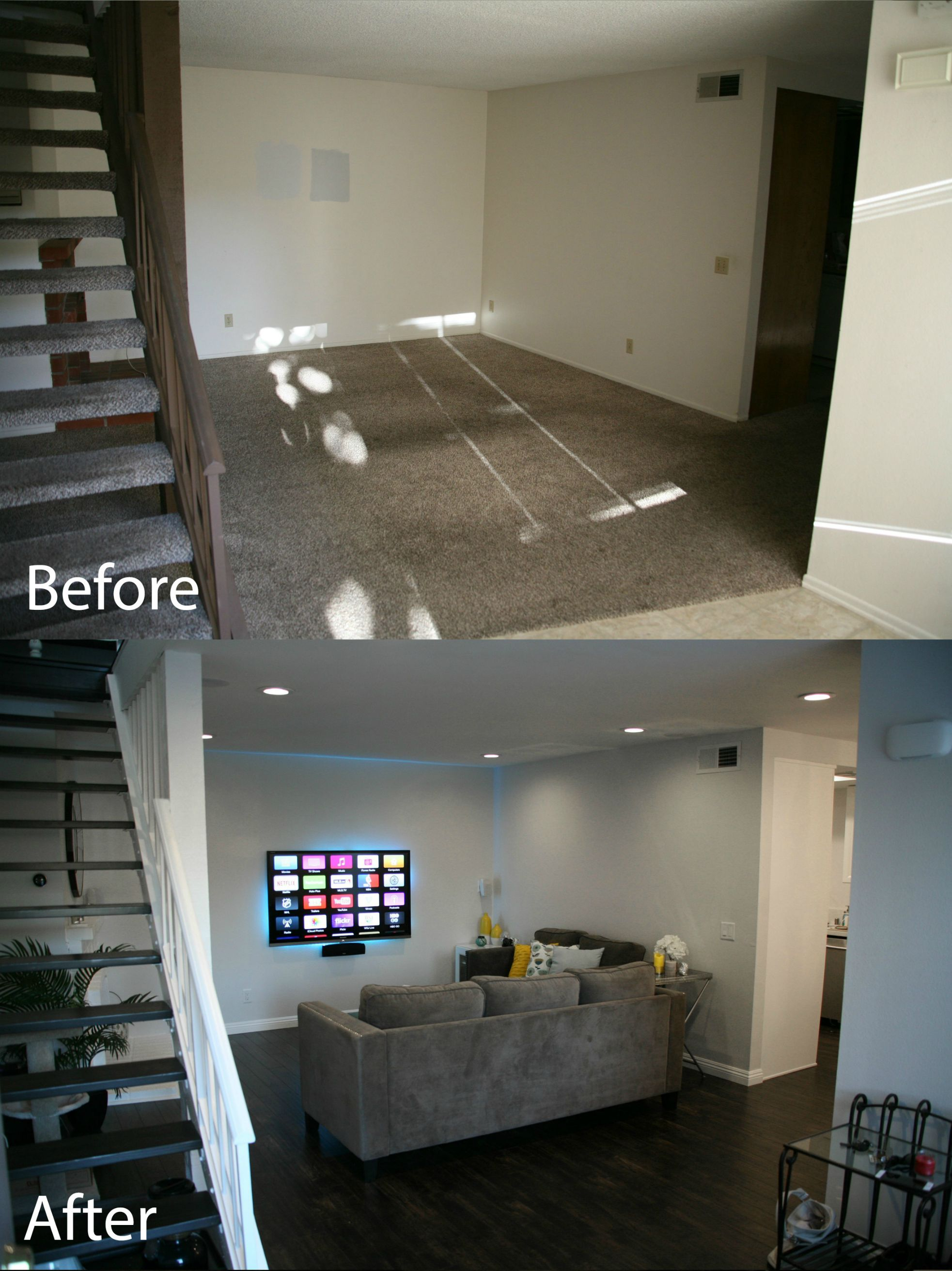 First Home Renovation Diy Entire Home Renovation Gray