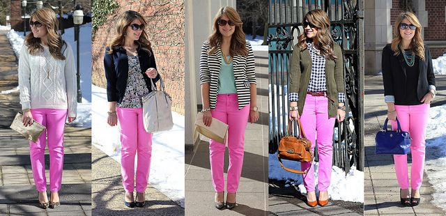 5 ways to wear pink skinny jeans: Mix and Match Fashion ...