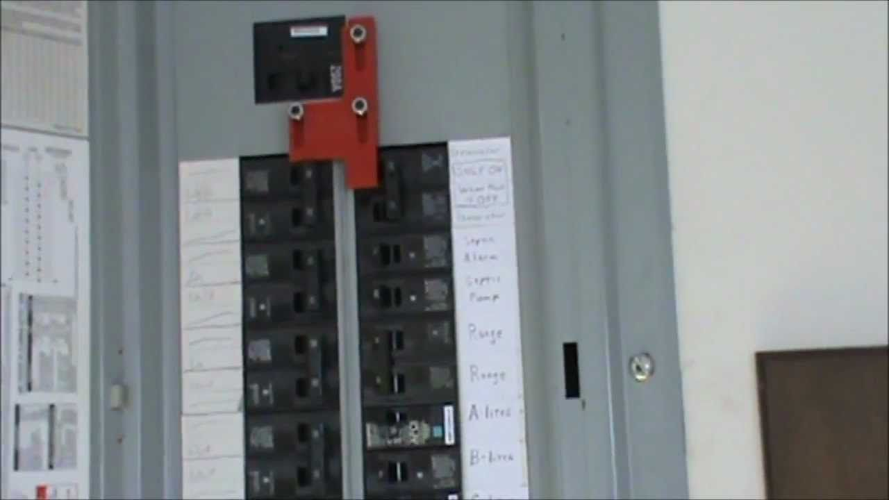 How to wire a generator to an electrical panel Generator