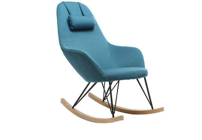 jhene rocking chair bleu miliboo ce fauteuil relax. Black Bedroom Furniture Sets. Home Design Ideas