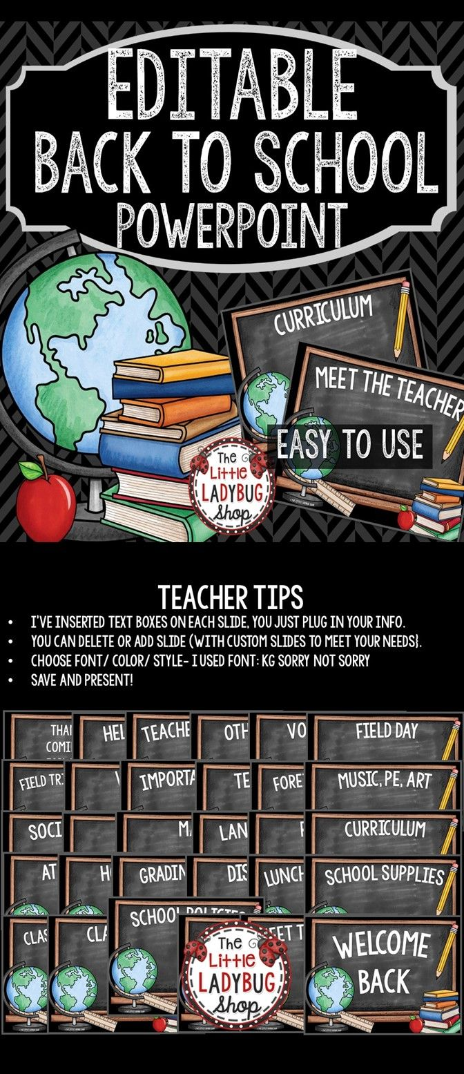 back to school powerpoint for open house and meet the teacher editable