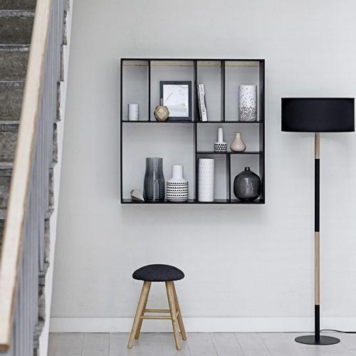 etag re murale en bois 8 niches bloomingville 2 coloris decoclico scandinave parement. Black Bedroom Furniture Sets. Home Design Ideas