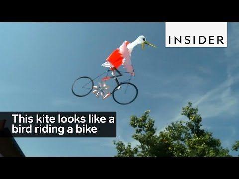 A Designer Created A Kite That Looks Like A Bird Riding A Bike