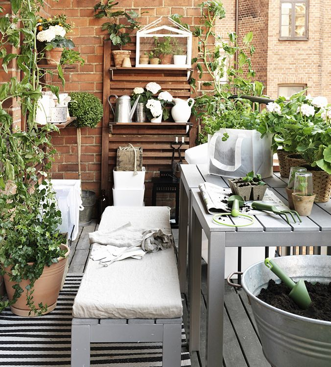decorar terraza pequena ikea decoraci n terrazas y. Black Bedroom Furniture Sets. Home Design Ideas