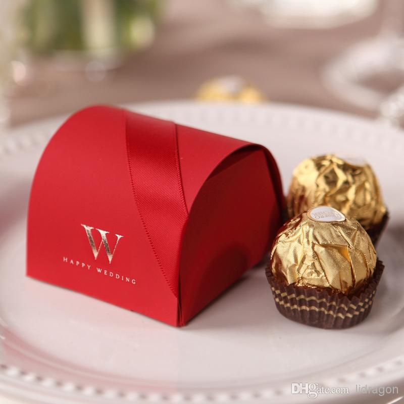 Elegant Red Small Gift Boxes Paper Red Favor Holders Buy Wholesale