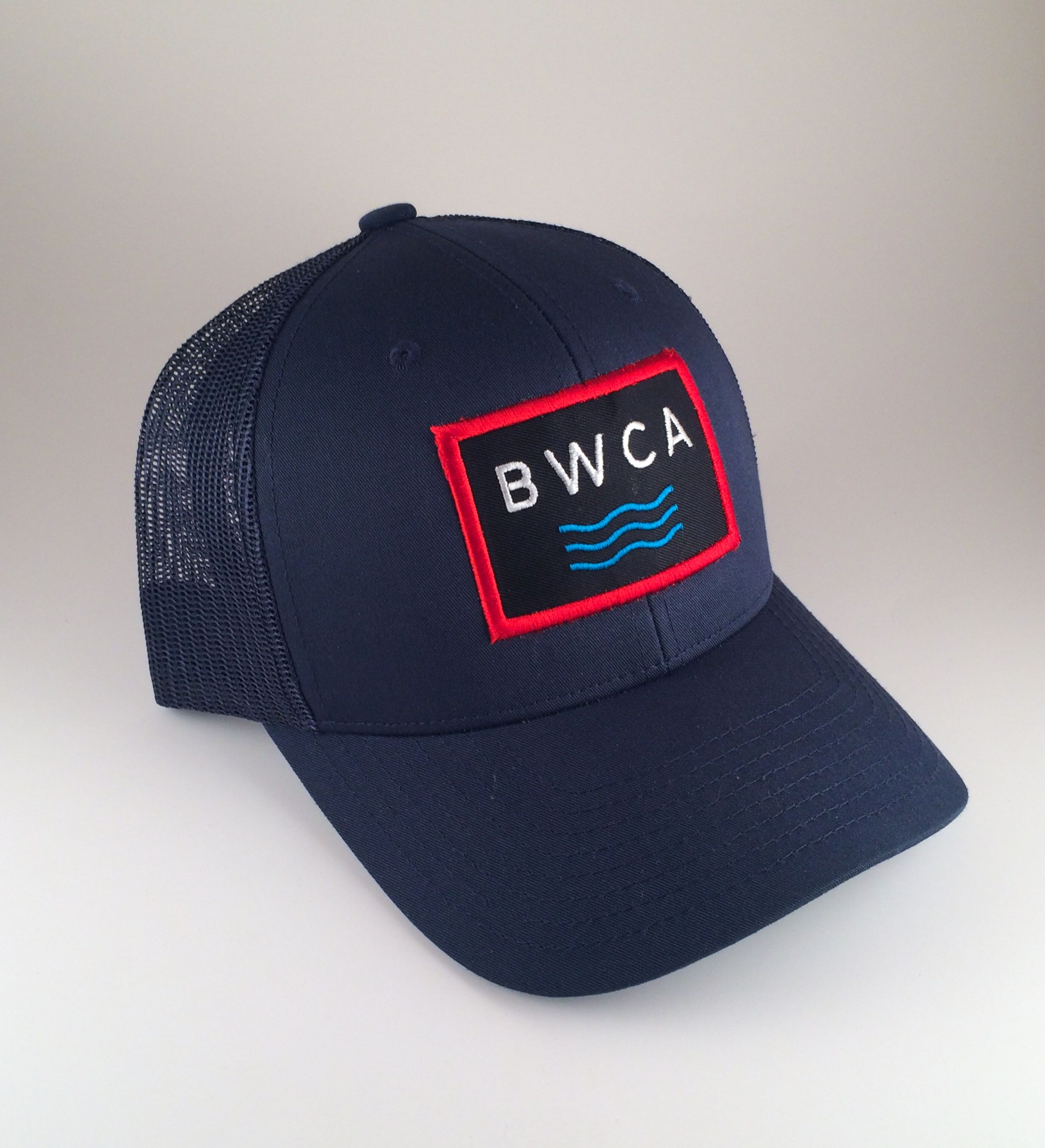 958f0f17 Boundary Waters Canoe Area Wilderness (BWCA) Water Waves Trucker Hat - Navy