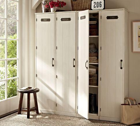 Storage Furniture Modular Family Lockers Pottery Barn Locker Systems Entryway