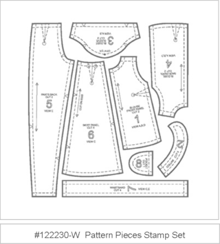 Stamp set:  Pattern Pieces