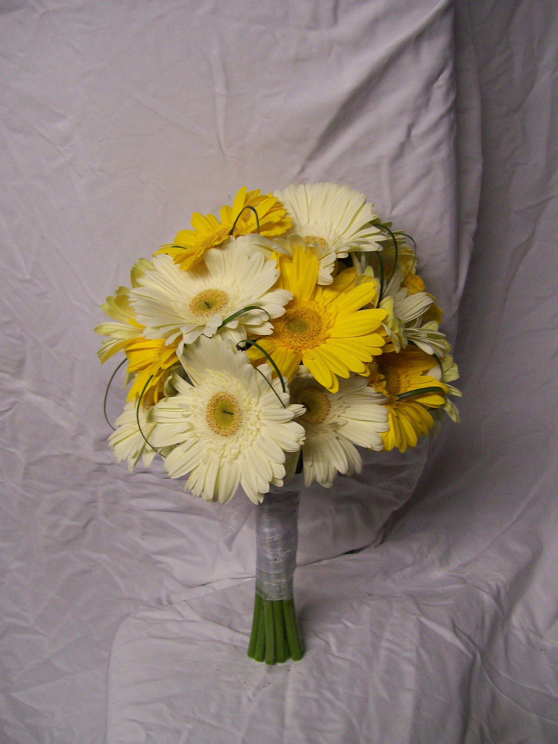 Yellow gerber daisy wedding bouquets powell white and yellow yellow gerber daisy wedding bouquets powell white and yellow gerbera daisy bouquetcarrie anne powell izmirmasajfo