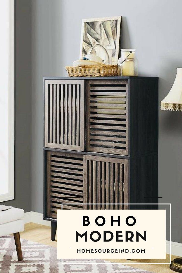 Boho Modern bohofurniture storage homeorganization