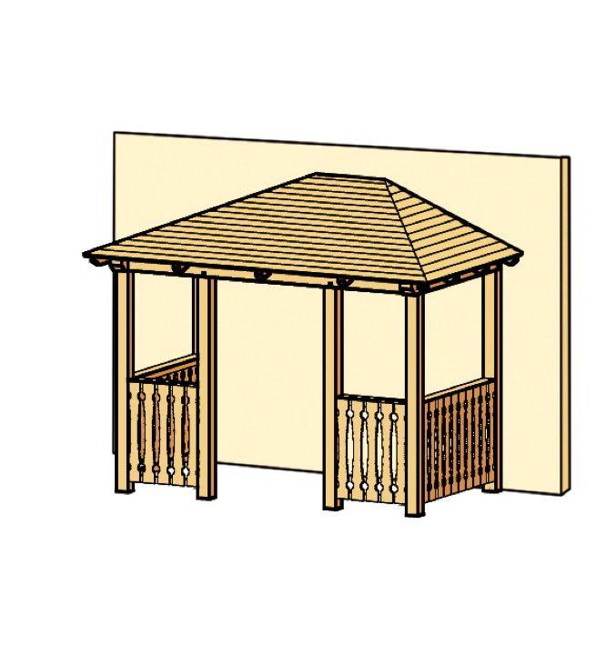 HolzVordach SKANHOLZ «Wismar für Doppeltüren» Haustür