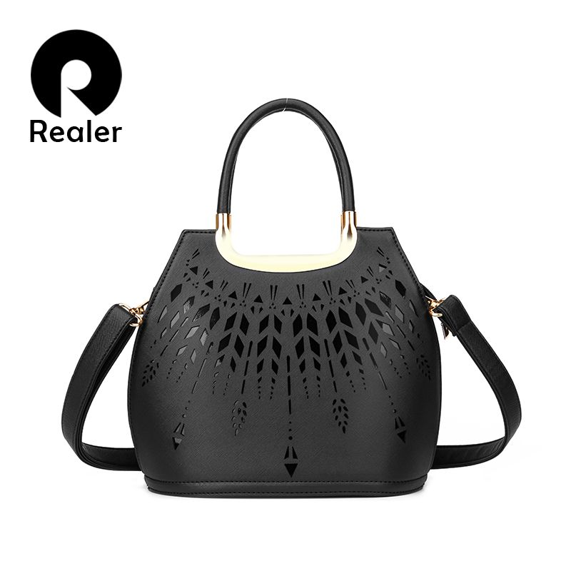 Aliexpress.com : Buy New Realer Brand Women Hollow Out Handbag ...