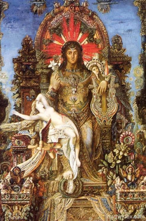 jupiter and semele by moreau essay Gustave moreau (1826–1898), jupiter and semele (detail) (1895), oil on canvas, 212 x 118 cm, musée gustave moreau, paris wikimedia commons moreau has placed a dazzling array of other images from many different cultures and beliefs at the left side of jupiter's throne, some of which can be made out in this detail.
