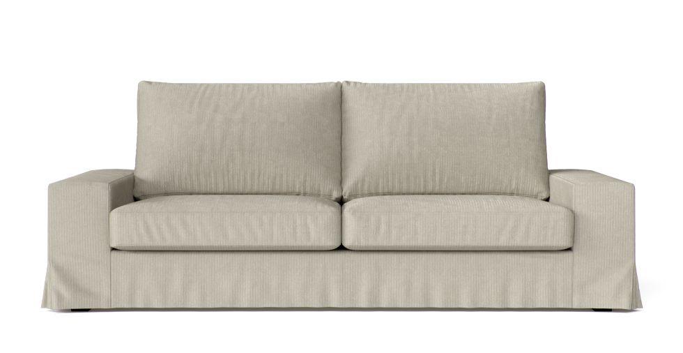 Kivik 3 Seater Long Skirt Sofa Cover Sofa Covers Skirted Sofa