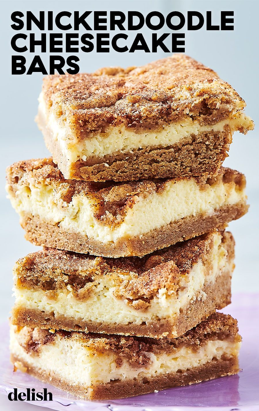 Snickerdoodle Cheesecake Bars #easydesserts