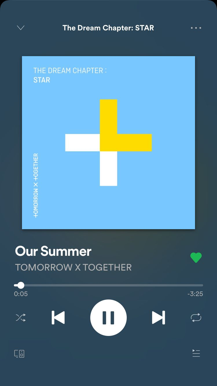 TOMORROW X TOGETHER Our Summer in 2020 Song playlist