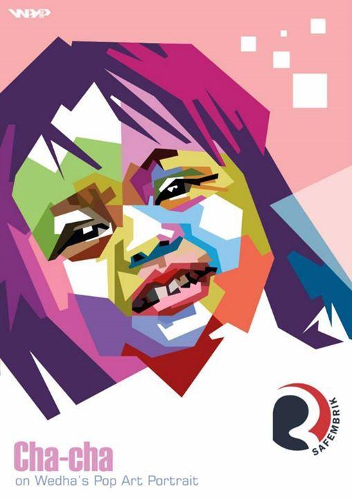 Wedha's Pop Art Portrait ~ Hanya ada satu safembrik