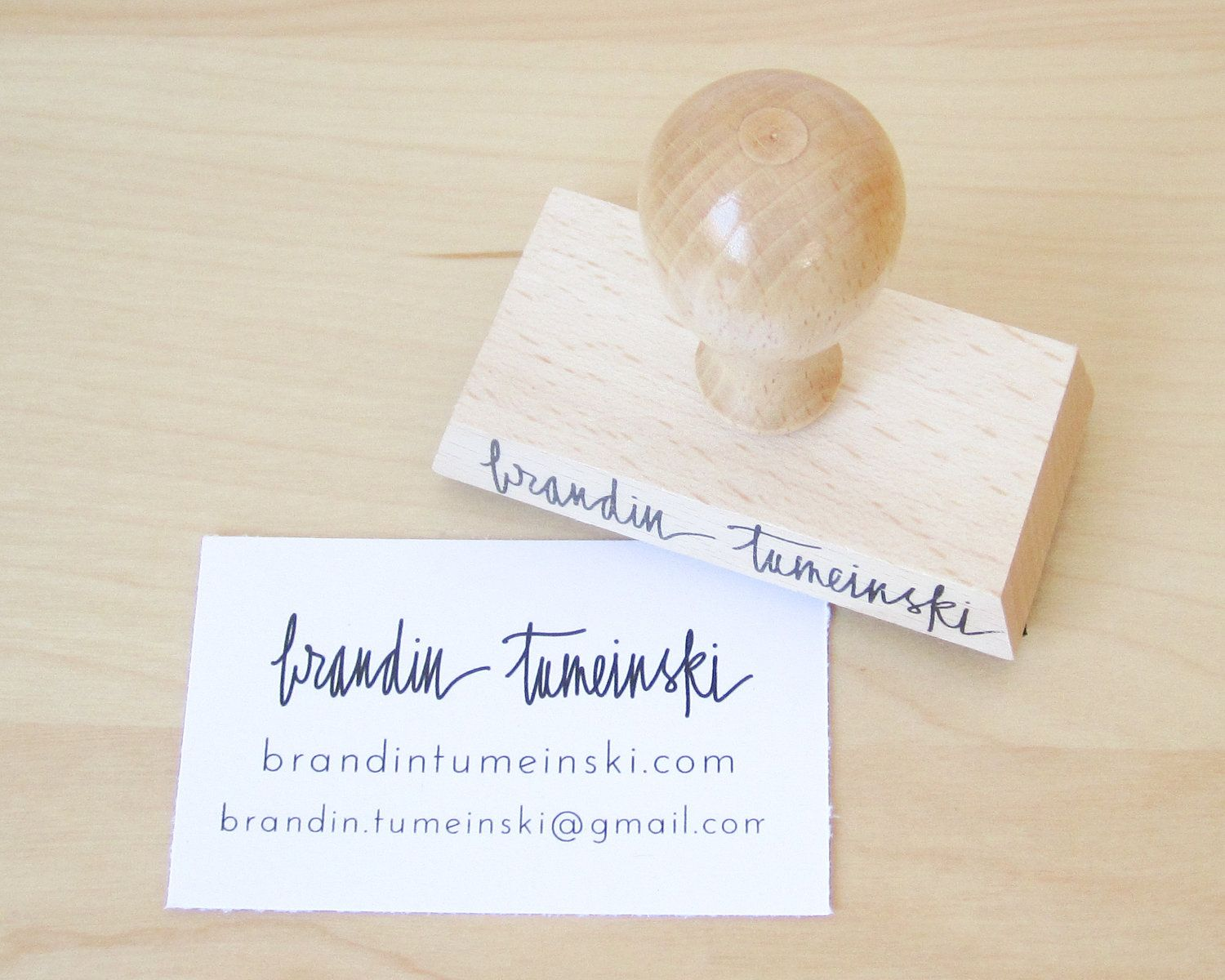 Business Card Stamp Custom Business Card Or Etsy Shop Stamp - Place card maker