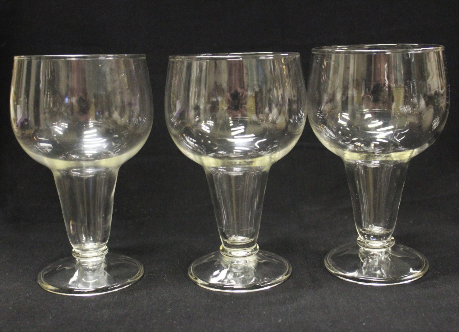 Vintage Anchor Hocking Hollow Stem Pilsner Beer Glasses, Mid Century  Collectilbe Barware, Set Of 3 Cocktail, Wine, Or Beer Glasses