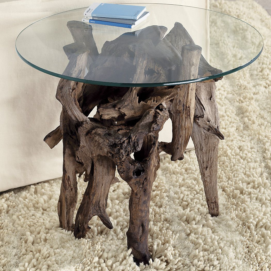 Shop Driftwood Round Side Table Collected Along The Shores Of Indonesia Unfinished Driftwood Forms T Driftwood Table Driftwood Decor Driftwood Coffee Table [ 1050 x 1050 Pixel ]