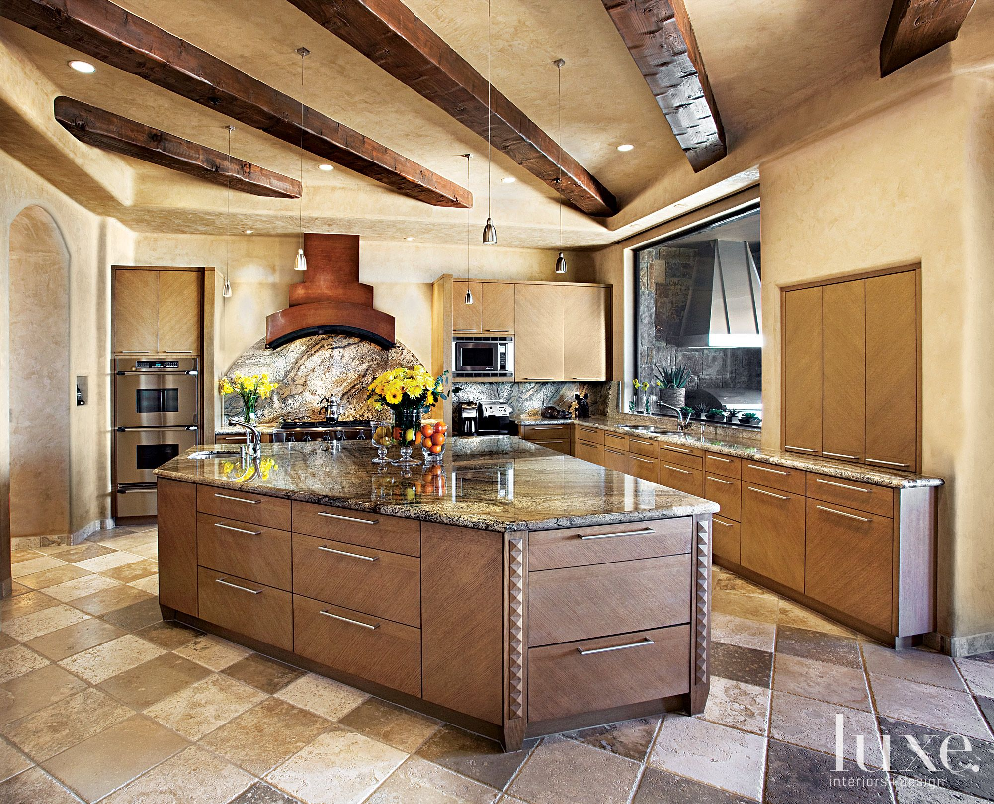 Best Luxe Arizona Brown Kitchens Kitchen Interior Design 400 x 300