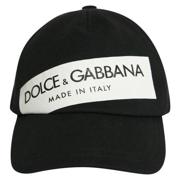 Dolce   Gabbana Logo cotton cap ( 209) ❤ liked on Polyvore featuring  accessories 8f9807b2485