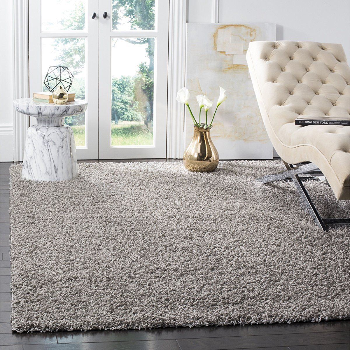 Safavieh athens shag collection sgaf light grey area rug x