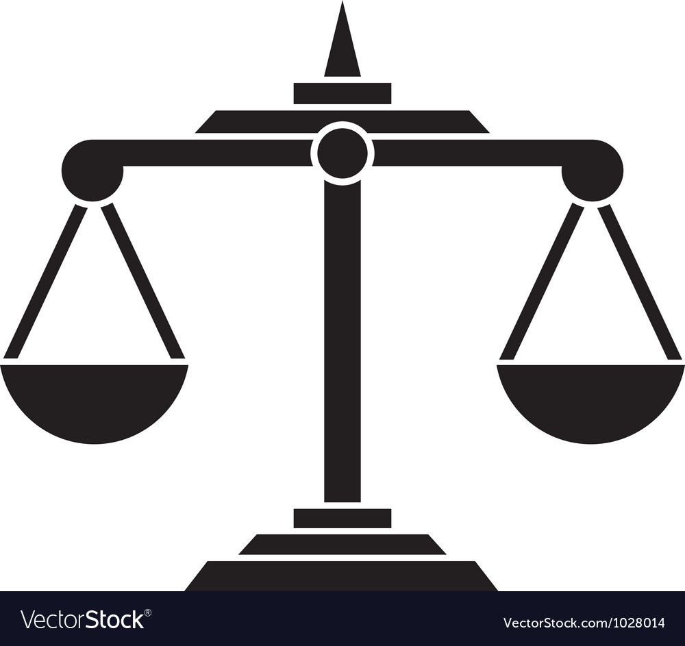 Scales Of Justice Vector Image On Vectorstock Vector Background Pattern Beer Icon Vector Free