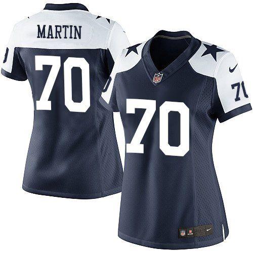 4f3eba5fa36 Nike Limited Zack Martin Navy Blue Women's Jersey - Dallas Cowboys #70 NFL Throwback  Alternate