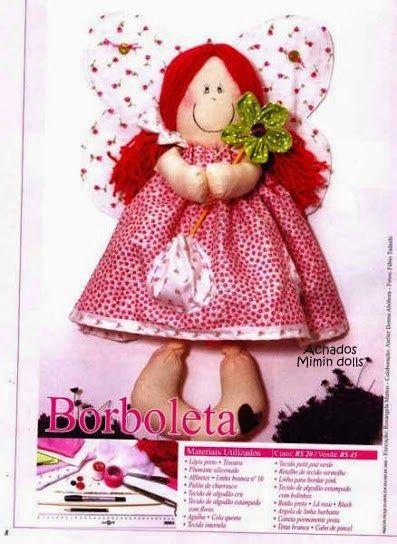 Mimin Dolls: boneca borboleta