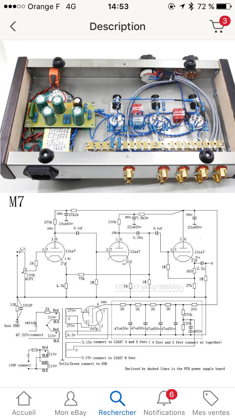 6P3S SingleEnded (SE) Tube Amp schematic 6P3Sシングルアンプ回路図