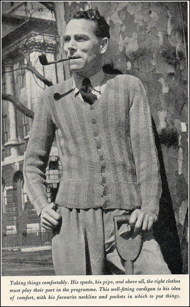Mens fashion 1940's   Mens fashion sweaters, 1940s fashion ...