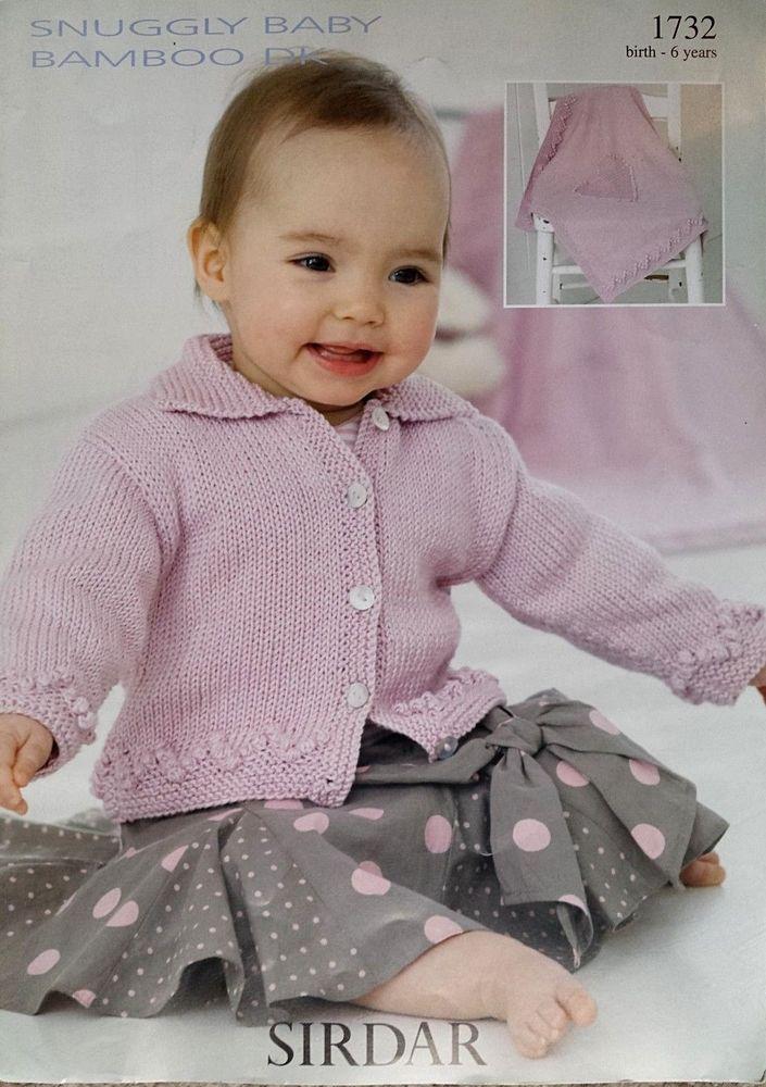 Details About Sirdar Dk Knitting Pattern Babies Toddler Cardigan