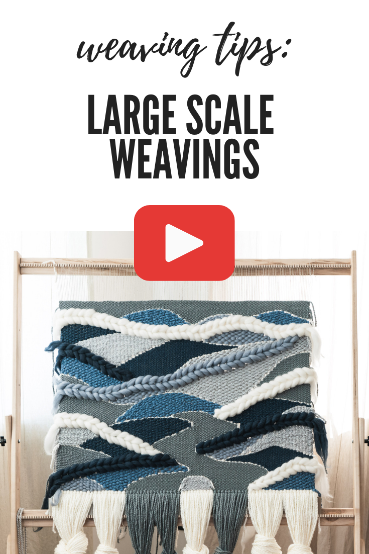 On today's YouTube video I'm showing you a time lapse of me weaving this huge woven wall hanging, and giving you some tips for weaving large scale wall hangings. #weaving #wovenwallhanging #woven #largewovenwallhanging #fiberart #wovenwallart #wallhanging #weavingtutorial #weavingvideo #roving #tapestry #modernweaving #moderntapestry #lostpondlooms #weavingtips #howtoweave #youtuber #craftyoutube