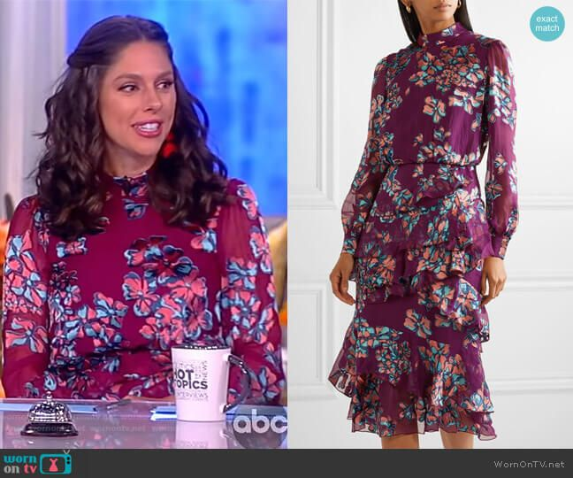 Sunny s pink floral print dress on The View  2edd9277c