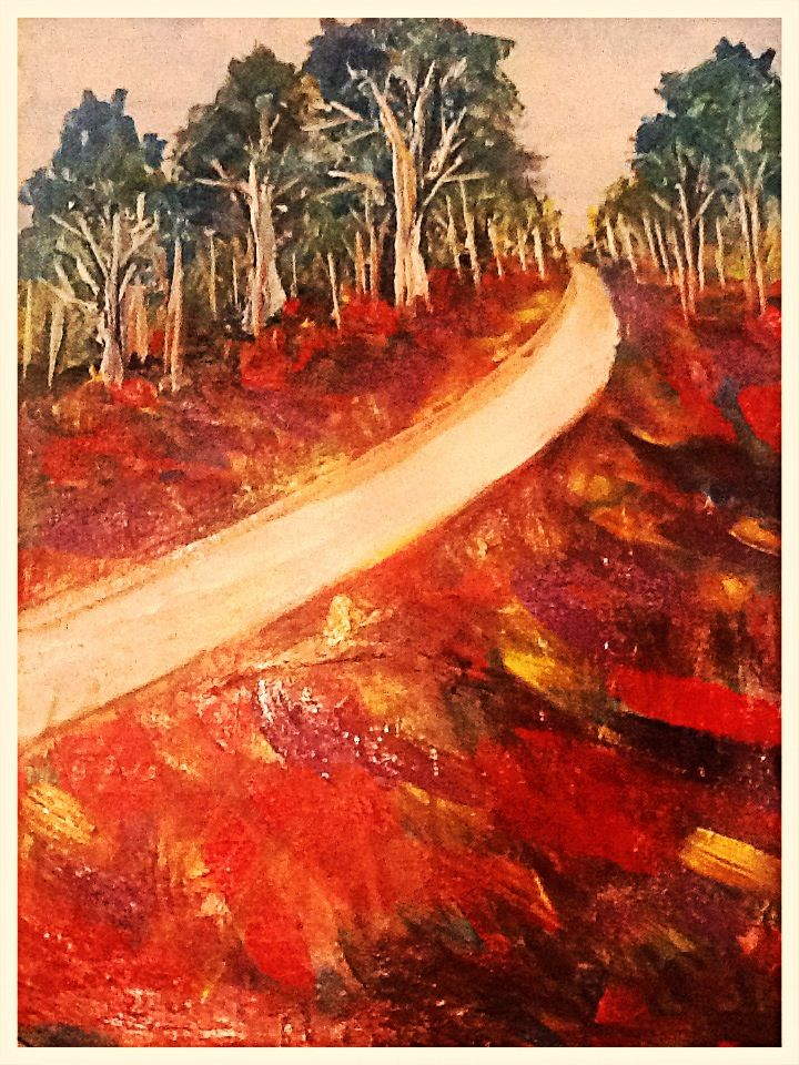 Road to Nowhere Acrylic on Canvas Artwork by Artist Sharon Wood For Sale swoody@internode.on.net