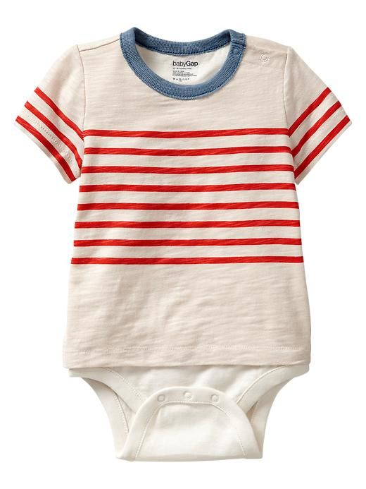 78ce6fa46 Gap Striped Snap Body Double - hot coral | Children's clothes | Boys ...