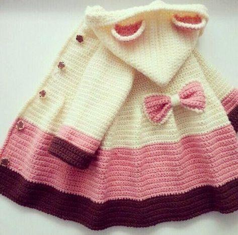 Crochet Baby Ruffled Cardigan Coat Free Pattern Video - Crochet ...