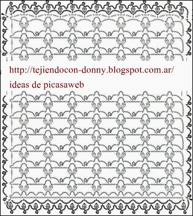TEJIDOS A CROCHET - GANCHILLO - PATRONES: BUFANDA , CHALINA TEJIDA A ...