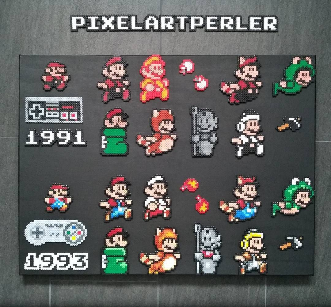 Nik F Pixelartperler On Instagram Mario Bros 3 Nes Snes