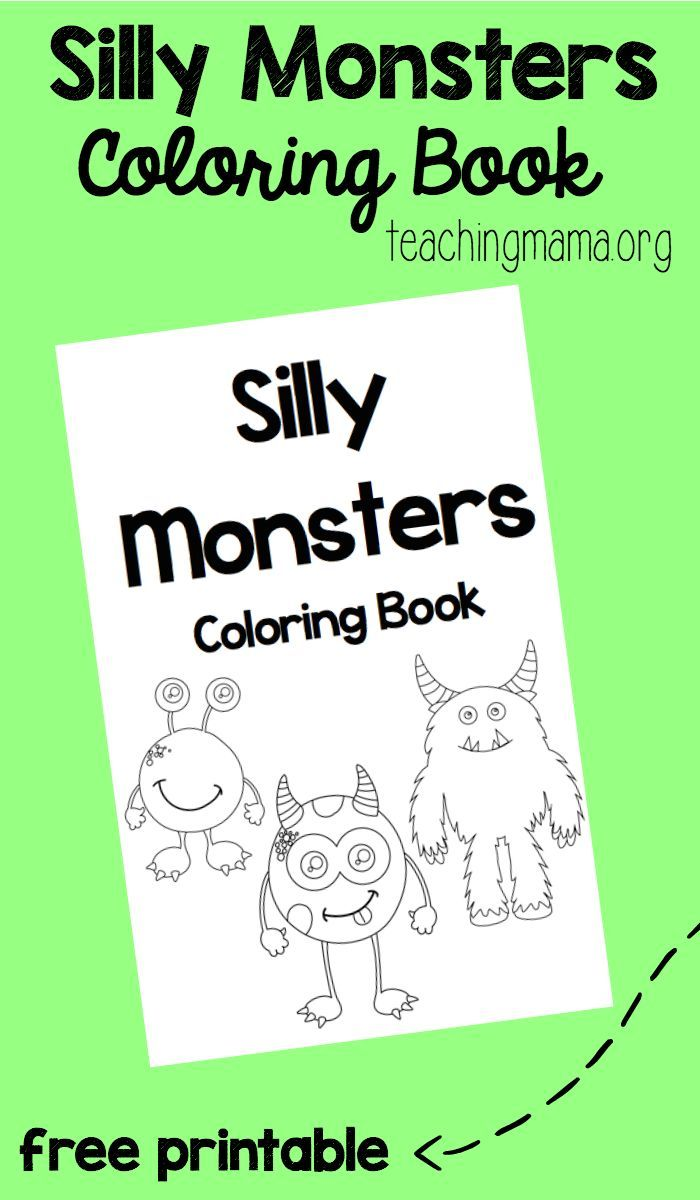 Silly Monsters Coloring Book | Coloring books, Free printable and ...