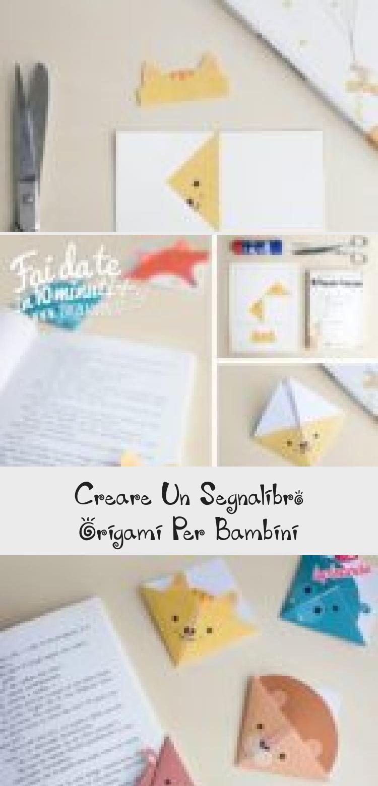 Photo of Creare un segnalibro origami per bambini   DIY origami bookmarks for children…