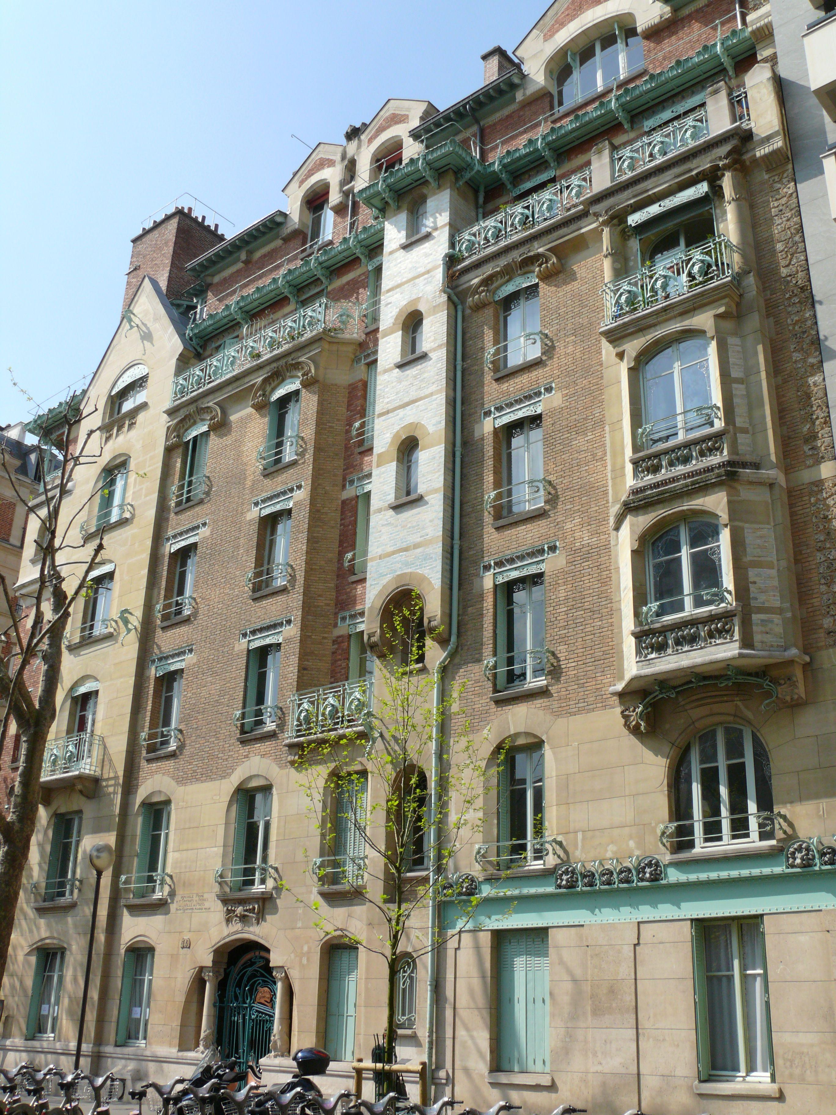 Paris XVIème Le Castel Béranger rue Jean de La Fontaine