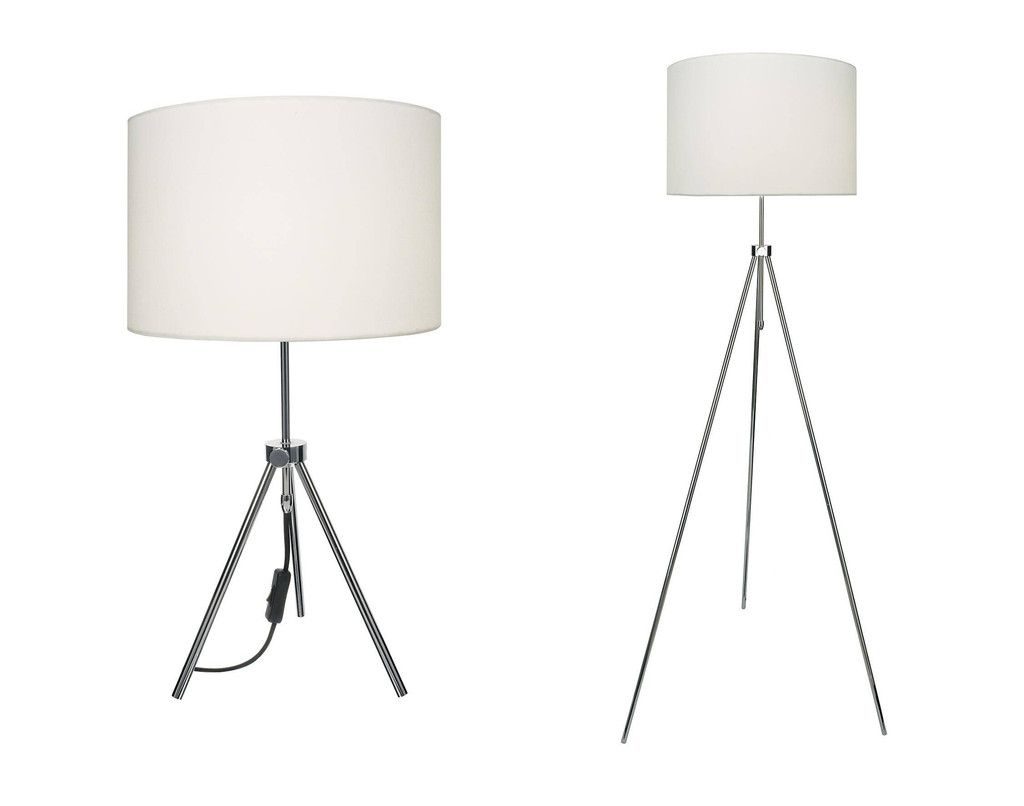 Dar wisebuys ern4950 erno table lamp and floor lamp twinpack dar wisebuys ern4950 erno table lamp and floor lamp twinpack polished chrome with shade geotapseo Images